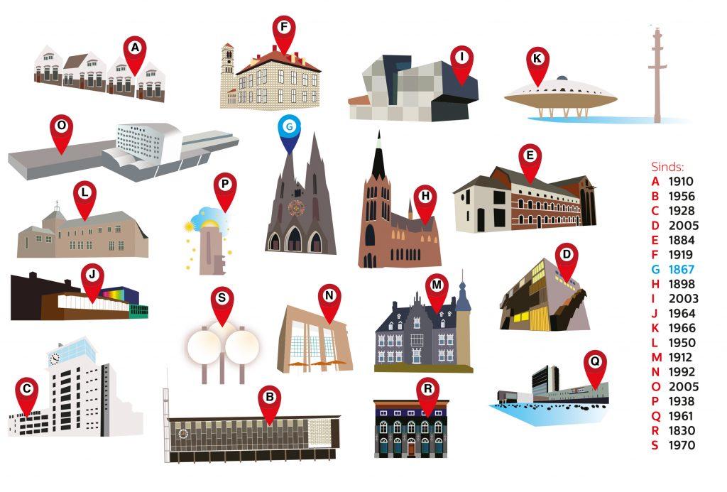 Antwoorden puzzel onderlegger Toen & Hier Eindhoven